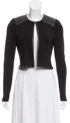 Barneys New York Barney's New York Quilted Faux Leather Bolero