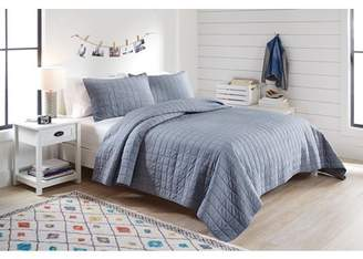 Better Homes & Gardens Better Homes and Garden Chambray Quilt Set with Tote FQ