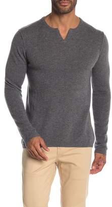 Autumn Cashmere Notch Collar Cashmere Sweater