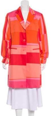 Lafayette 148 Colorblock Knee-Length Coat
