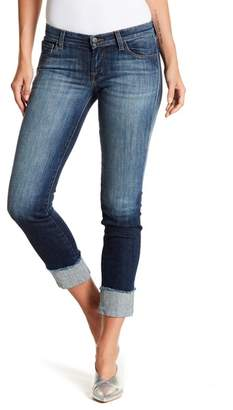 J Brand Cuffed Hipster Low Rise Jeans