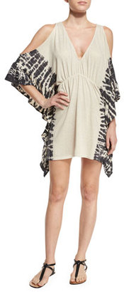 Ale by Alessandra Free Spirit Cold-Shoulder Coverup, Natural $120 thestylecure.com