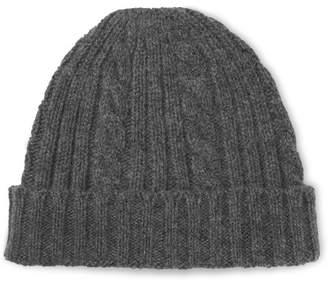 Outerknown Fisherman Cable-Knit Merino Wool And Organic Cotton-Blend Beanie