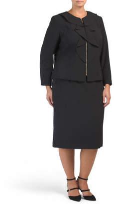 Plus 2pc Suit Skirt Set