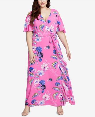 Rachel Roy Trendy Plus Size Ruffled Maxi Dress