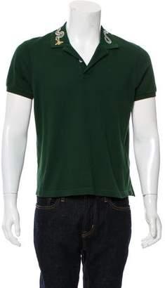 Gucci Kingsnake Embroidered Polo Shirt