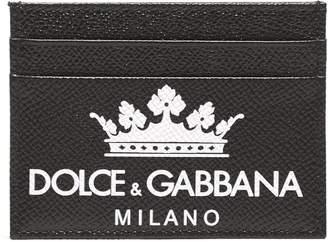 Dolce & Gabbana Logo And Crown Print Card Holder