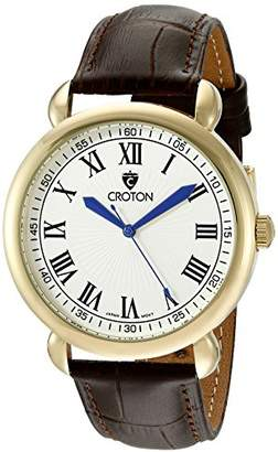 Croton Men's CN307532BRDW Heritage Analog Display Quartz Brown Watch