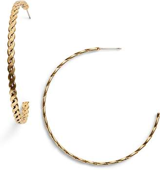 Karine Sultan Twisted Hoop Earrings