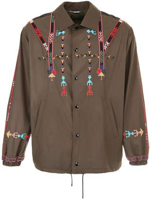 Valentino Jacket With Ethnic Embroidery