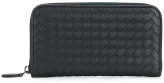Bottega Veneta tourmaline Intrecciato nappa zip-around wallet