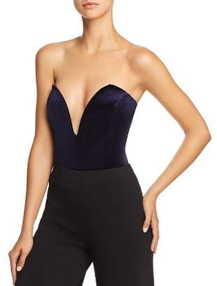 Sunset & Spring Sunset + Spring Velvet Notch Strapless Bodysuit - 100% Exclusive