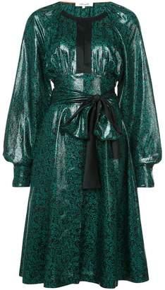 Diane von Furstenberg belted patent dress