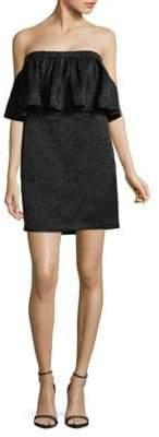 Halston H Flutter Strapless Dress