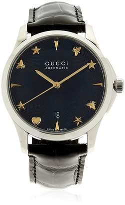 Gucci G-Timeless Watch W/ Alligator Band