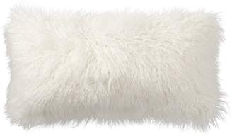 Pottery Barn Mongolian Faux Fur Pillow Cover - Ivory