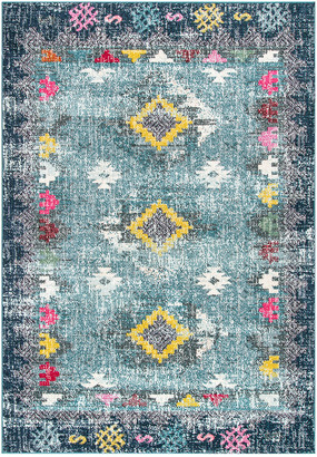 nuLoom Faded Diamond Dennis Machine-Made Synthetic Southwestern Rug