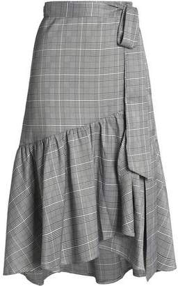 Raoul Ruffled Prince Of Wales Wrap Skirt
