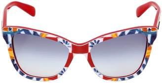 Dolce & Gabbana Butterfly Shape Mambo Print Sunglasses