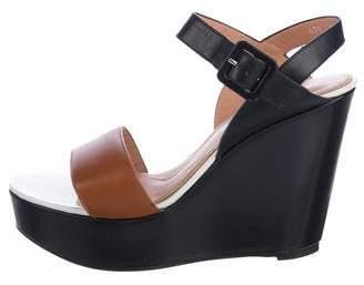 Robert Clergerie Colorblock Wedge Sandals