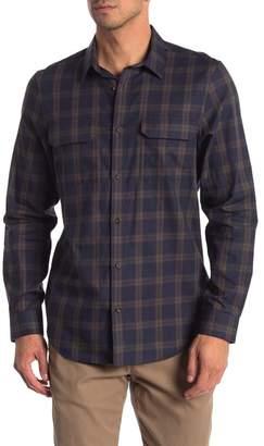 Calvin Klein Brushed Plaid Long Sleeve Shirt