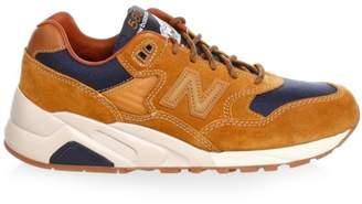 New Balance 580 Suede & Mesh Contrast Sneakers
