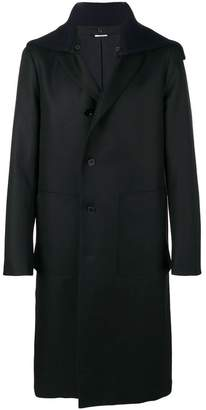 Jil Sander loose hooded coat