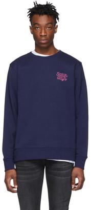 Saturdays NYC Blue Bowery Script Logo Sweatshirt