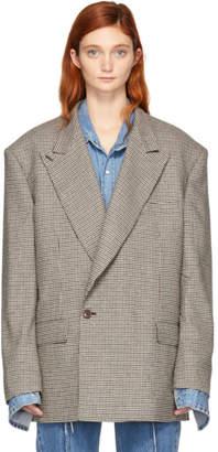 Vetements Beige Check Oversized Blazer