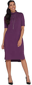 Halston H by Essentials Petite TurtleneckMidi Dress