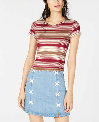 Sage The Label Ribbed Striped Top