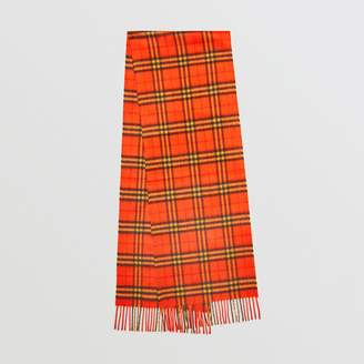 Burberry The Classic Vintage Check Cashmere Scarf, Orange
