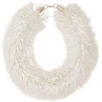 Vanda Jacintho - Shower Bead Tassel Necklace - Womens - White