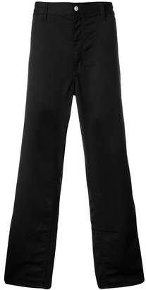 Carhartt logo patch wide-leg trousers