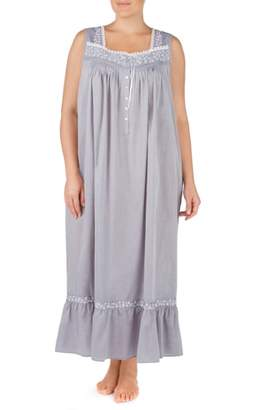Eileen West Chambray Cotton Nightgown
