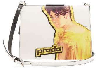 Prada - Frame Leather Bag - Womens - White Multi