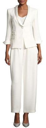 Giorgio Armani Classic Two-Piece Evening Pantsuit, White $6,995 thestylecure.com