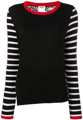 Liu Jo striped contrast sweater