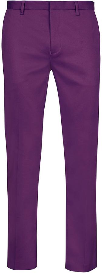 Topman Deep Purple Skinny Pants