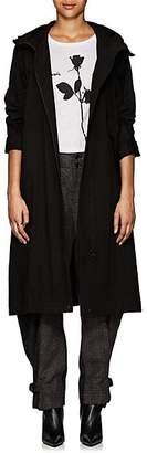 Yohji Yamamoto Regulation Women's Cotton-Blend Canvas Hooded Coat - Black