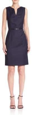 HUGO BOSS Dalanda Virgin Wool Pinstripe Sheath Dress