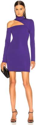 David Koma Cutout Jersey Dress in Purple | FWRD