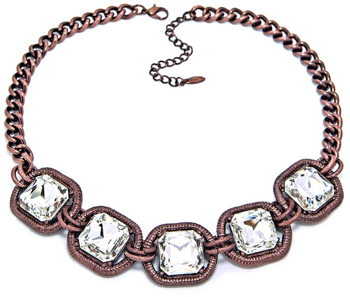 Cable Crystal Strand Necklace