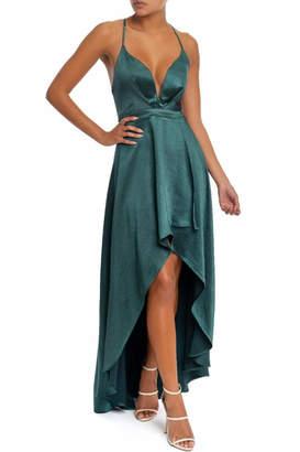 luxxel High-Low Satin Dress