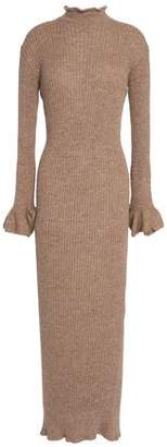 Acne Studios Cutout Ribbed Alpaca And Wool-Blend Maxi Dress