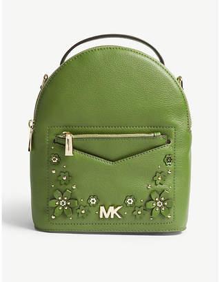 MICHAEL Michael Kors Michael Kors Optic White Floral Jessa Small Leather Cross Body Backpack