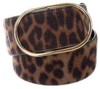 Stella McCartney Animal Print Vegan Ponyhair Belt
