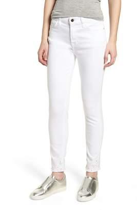 Jen7 Crystal Hem Ankle Skinny Jeans