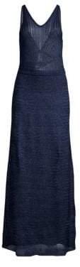 M Missoni Women's Lurex Sleeveless Gown - Blue - Size 38 (2)