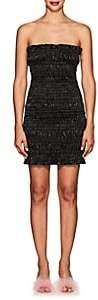 Area Women's Emily Stretch-Lamé Tube Minidress - Black
